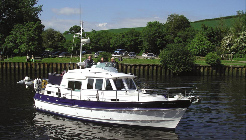 Hardy 36 in calm conditions